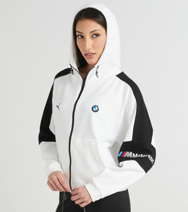 Puma  Motorsport Hooded Sweat Jacket  White - 59636202-100 | Jimmy Jazz