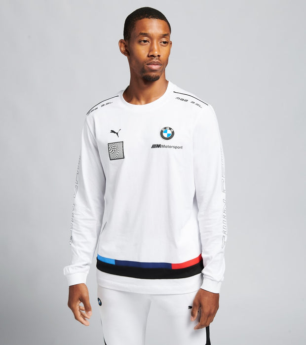 Puma  BMW Motorsport Street Long Sleeve Tee  White - 59655402-100 | Jimmy Jazz