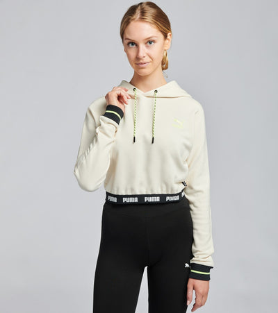 Puma  Central Saint Martins Cropped Hoodie  White - 59718002-100 | Jimmy Jazz