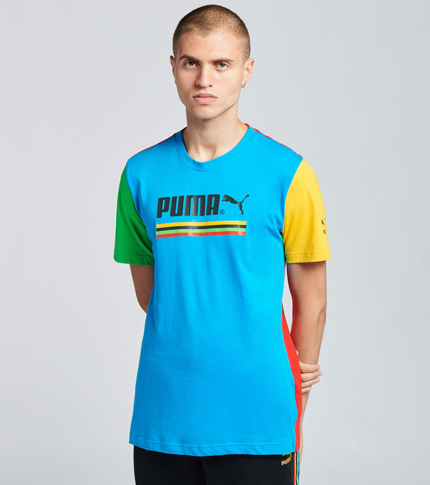Puma  Tailored For Sport Graphic Tee  Blue - 59761438-400 | Jimmy Jazz