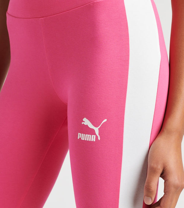 Puma  Classics Logo T7 Leggings  Pink - 59766225-690 | Jimmy Jazz