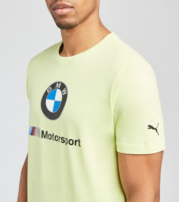 Puma  BMW Motorsport Short Sleeve Logo Tee  Yellow - 59969605-700 | Jimmy Jazz