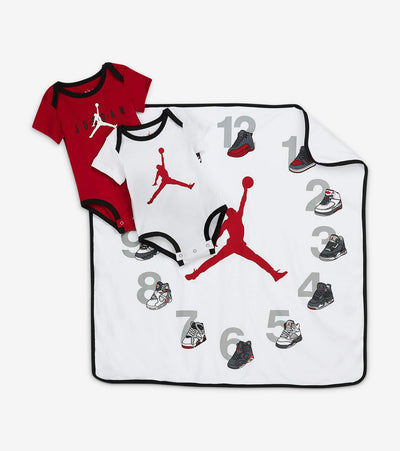 Jordan  Milestone Blanket Set  White - 5NA154-001 | Jimmy Jazz