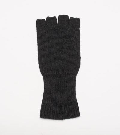 Polo Ralph Lauren  Signature Merino Fingerless Gloves  Black - 604795-001 | Jimmy Jazz