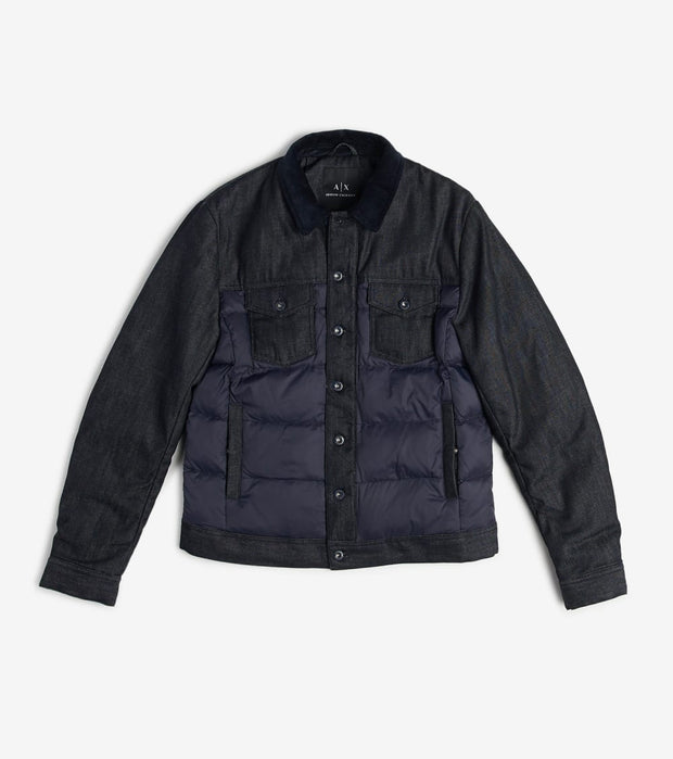 Armani Exchange  Trucker Style Puffer Jacket  Navy - 6GZB35Z1KTZ-5599 | Jimmy Jazz
