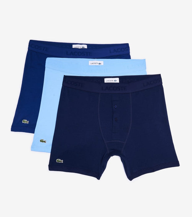 Lacoste  3 Pack Boxer Briefs  Navy - 6H3405-VUC | Jimmy Jazz