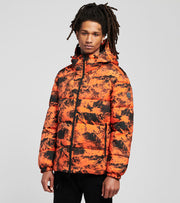 Armani Exchange  Patterned Blouson Jacket  Orange - 6HZB56ZNKRZ2479 | Jimmy Jazz