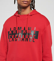 Armani Exchange  Logo Hooded Sweatshirt  Red - 6HZMFKZJQ2Z1463 | Jimmy Jazz