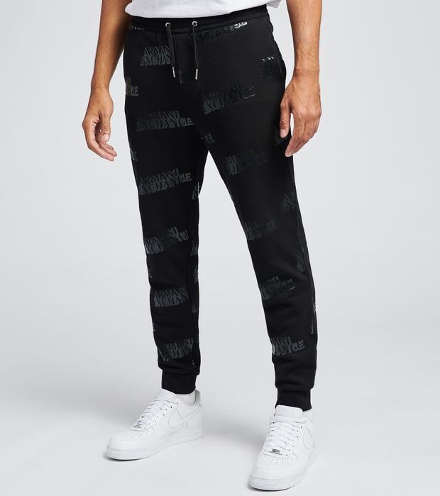 Armani Exchange  All Over Logo Drawstring Joggers  Black - 6HZPAGZJU1Z7244 | Jimmy Jazz