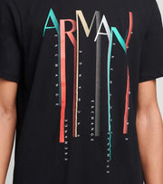Armani Exchange  Falling Logo T-Shirt  Black - 6HZTALZJN7Z1200 | Jimmy Jazz