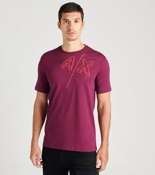 Armani Exchange  Logo T-Shirt Short Sleeve  Purple - 6HZTFAZJBVZ1306 | Jimmy Jazz