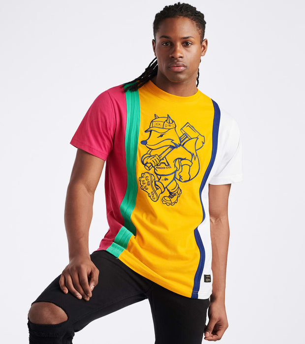 A.K.O.O.  Outfield Knit Tee  Yellow - 7011309-YEL | Jimmy Jazz