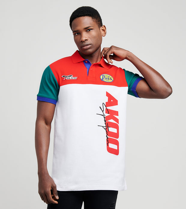 A.K.O.O.  Slick No Rules Polo Shirt  White - 7017303-WRG | Jimmy Jazz