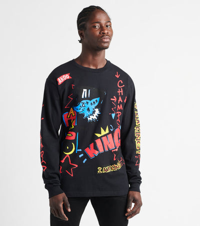 A.K.O.O.  Marker Long Sleeve Tee  Black - 7018224-BLK | Jimmy Jazz