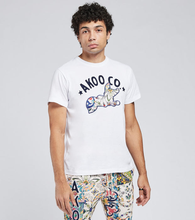 A.K.O.O.  Banner Short Sleeve Tee  White - 7018313-BWT | Jimmy Jazz