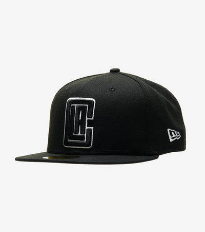 New Era  59fifty Clippers Fitted Cap  Black - 70344030-ERA | Jimmy Jazz