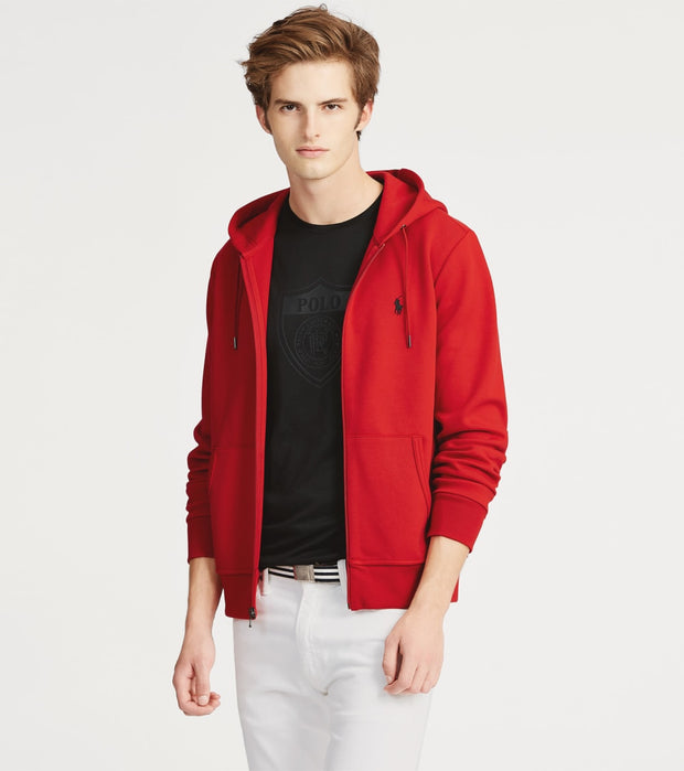 Polo Ralph Lauren  Double Knit Tech Hoodie  Red - 710652313031-RED | Jimmy Jazz