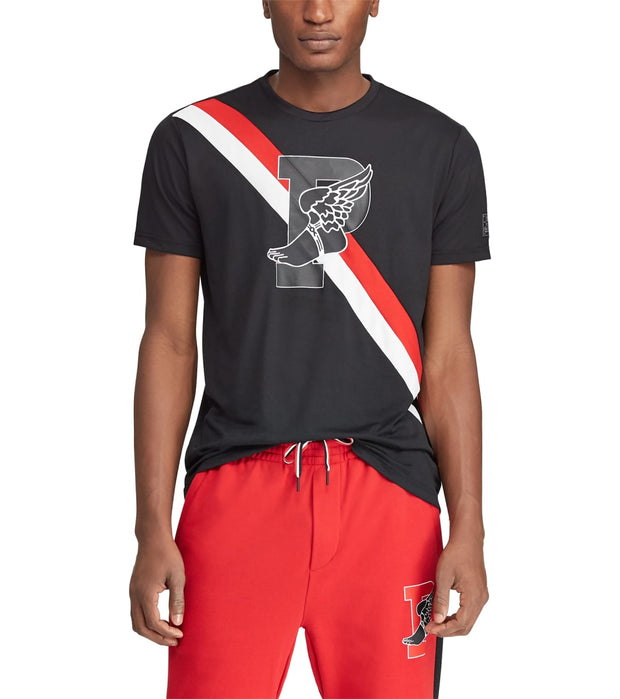 Polo Ralph Lauren  Active Fit P-Wing Graphic Tee  Black - 710737949001-PBK | Jimmy Jazz