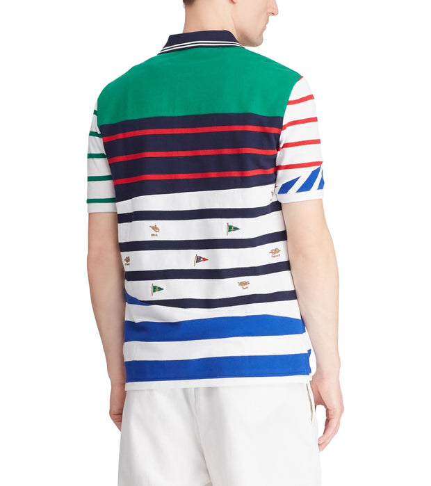 Polo Ralph Lauren  Classic Fit Striped Mesh Polo  Multi - 710741077001-EGN | Jimmy Jazz