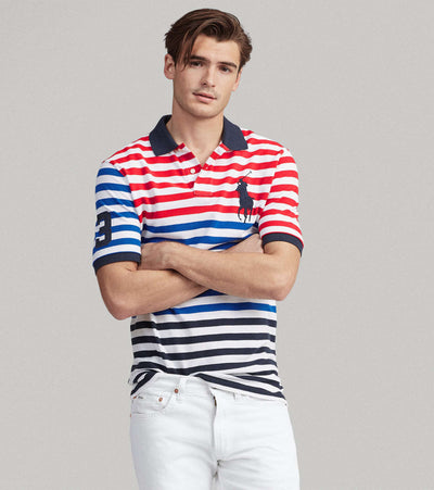 Polo Ralph Lauren  Classic Fit Striped Mesh Polo  Multi - 710743893001-ANV | Jimmy Jazz