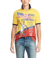 Polo Ralph Lauren  Custom Slim Fit Mesh Polo  Yellow - 710746458001-CYL | Jimmy Jazz