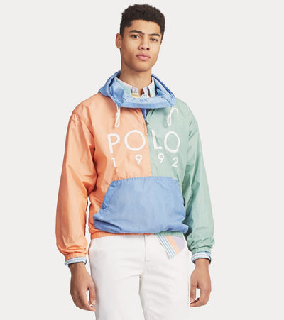Polo Ralph Lauren  Color-Blocked Logo Popover  Multi - 710750176001-BLU | Jimmy Jazz