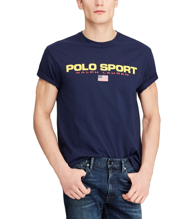 Polo Ralph Lauren  Classic Fit Polo Sport Tee  Navy - 710750444004-CNV | Jimmy Jazz