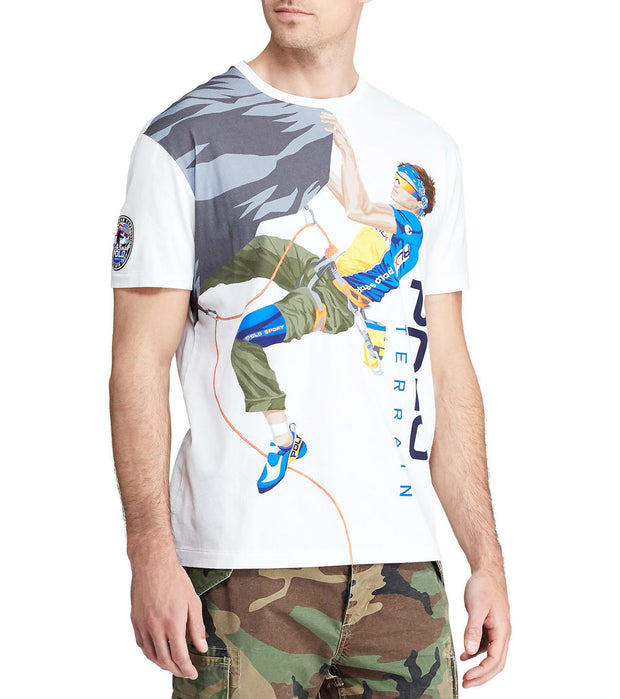 Polo Ralph Lauren  Classic Fit Polo Terrain Tee  White - 710766087001-WHT | Jimmy Jazz