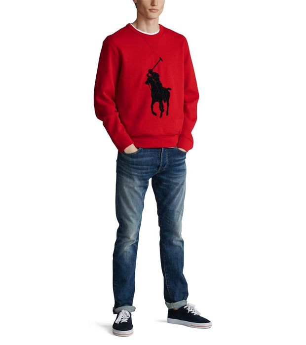 Polo Ralph Lauren  Chenille Big Pony Sweatshirt  Red - 710766862006-RED | Jimmy Jazz