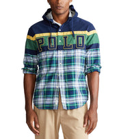 Polo Ralph Lauren  Half Plaid Shirt  Green - 710780383001-GRN | Jimmy Jazz