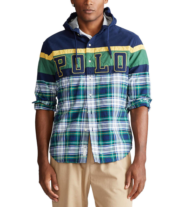 Polo Ralph Lauren  Half Plaid Shirt  Green - 710780383001-GRN | Aractidf
