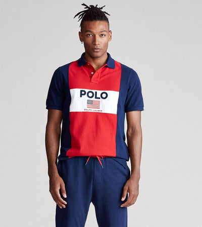 Polo Ralph Lauren  Flag Mesh Polo  Red - 710781172001-RED | Jimmy Jazz