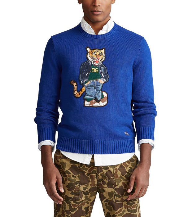 Polo Ralph Lauren  Polo Tiger Sweater  Blue - 710786687001-HRL | Jimmy Jazz