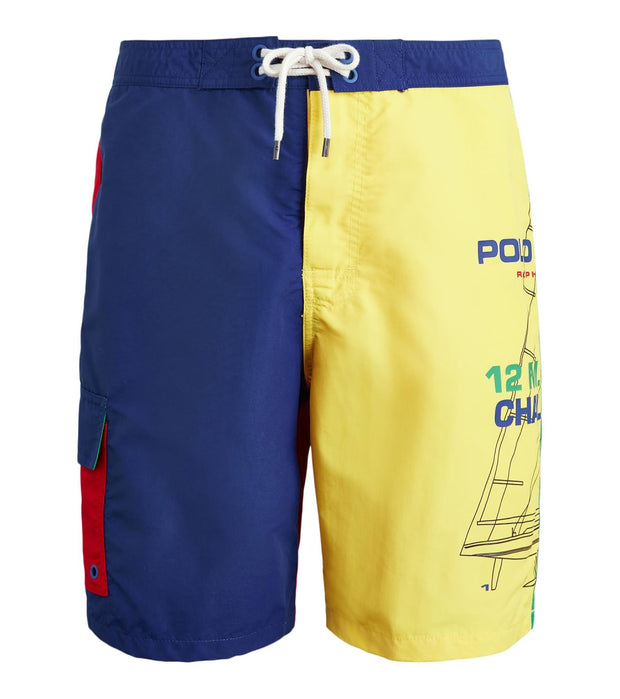 Polo Ralph Lauren  8½-Inch Kailua Swim Trunk  Blue - 710787139001-OCN | Jimmy Jazz