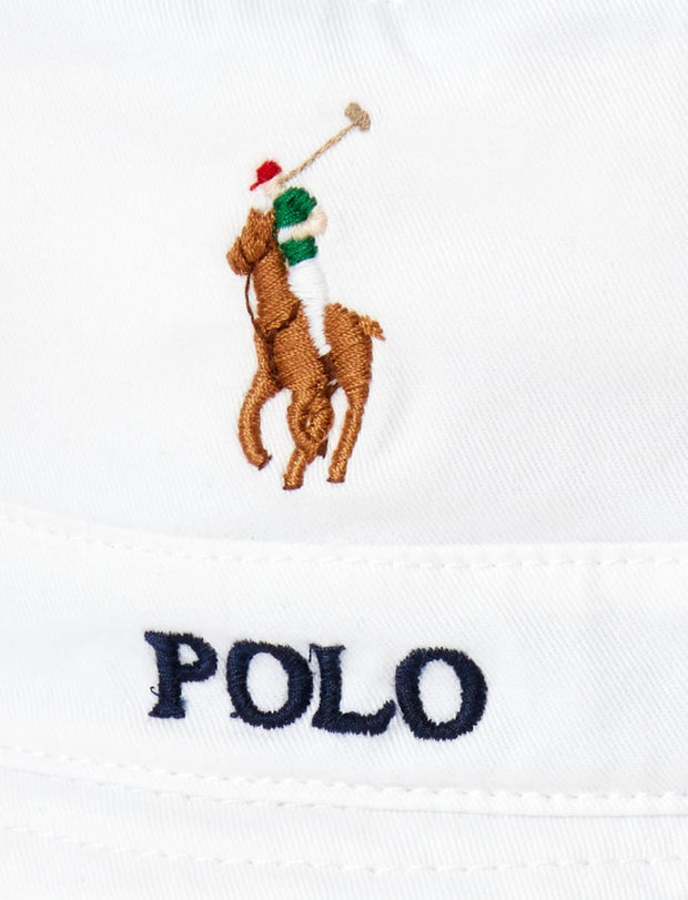 Polo Ralph Lauren  Loft Bucket Hat  White - 710787242001 | Jimmy Jazz