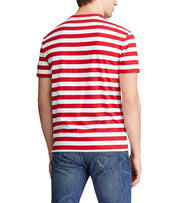 Polo Ralph Lauren  Classic Fit Striped T-Shirt  Red - 710788875006-RDW | Jimmy Jazz
