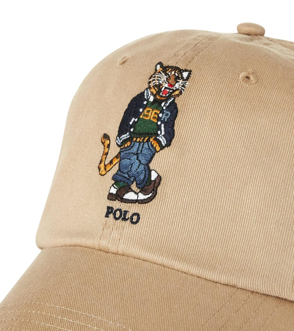 Polo Ralph Lauren  Tiger Chino Ball Cap  Beige - 710790285001 | Jimmy Jazz
