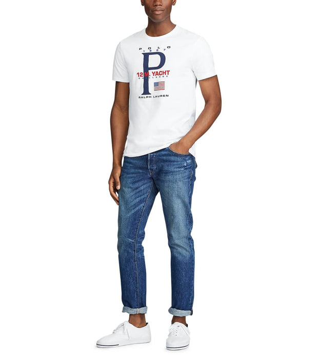 Polo Ralph Lauren  Classic Fit Graphic T-Shirt  White - 710790870002-WHT | Jimmy Jazz