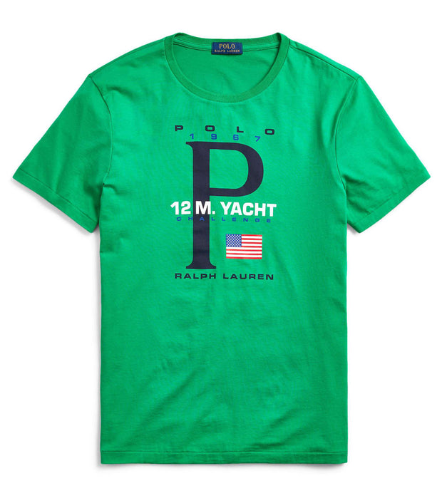 Polo Ralph Lauren  Classic Fit Graphic T-Shirt  Green - 710790870003-CGN | Jimmy Jazz