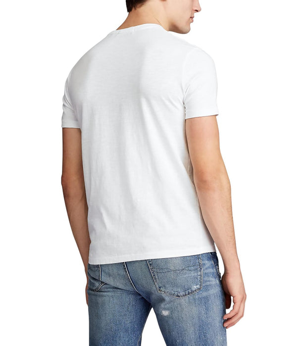 Polo Ralph Lauren  Custom Slim Fit T-Shirt  White - 710791584001-COW | Jimmy Jazz