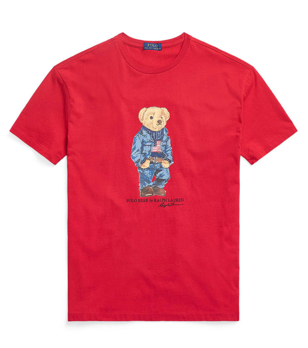 Polo Ralph Lauren  Polo Bear Denim Tee  Red - 710792906004-RED | Jimmy Jazz