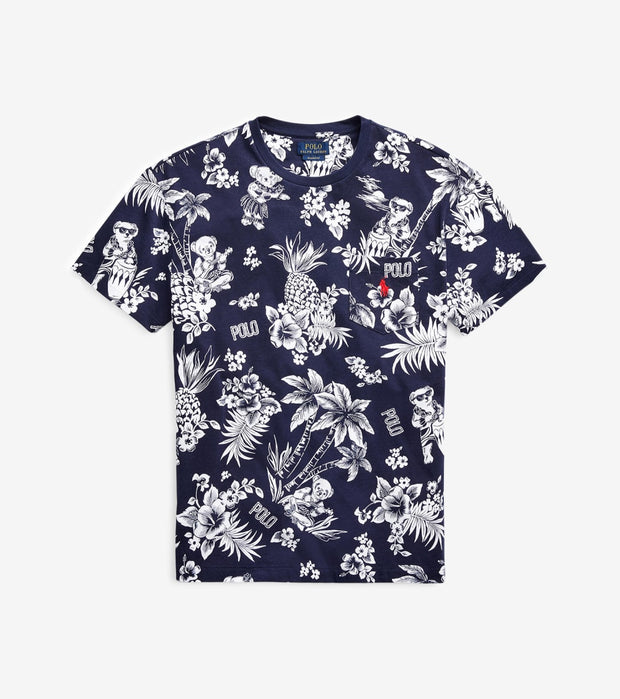Polo Ralph Lauren  Classic Tropical Bear T-Shirt  Navy - 710795249003-CNV | Jimmy Jazz