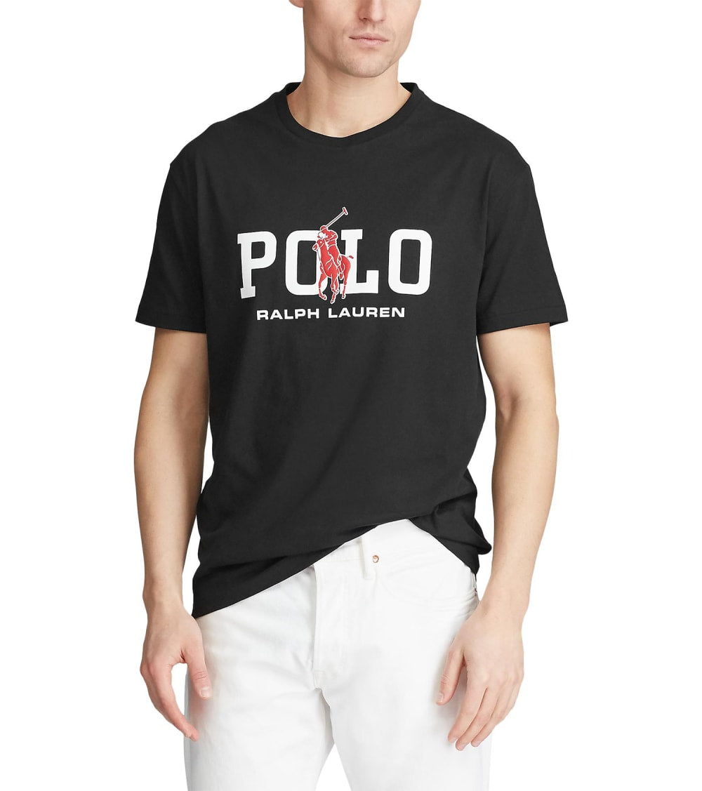 Polo Ralph Lauren  Classic Fit Graphic T-Shirt  Black - 710795778001-PBK | Jimmy Jazz