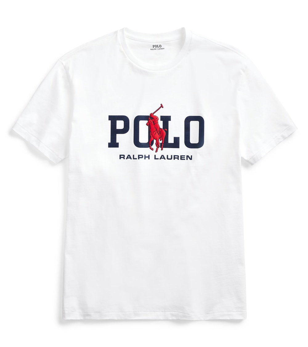 Polo Ralph Lauren  Classic Fit Graphic T-Shirt  White - 710795778002-WHT | Jimmy Jazz
