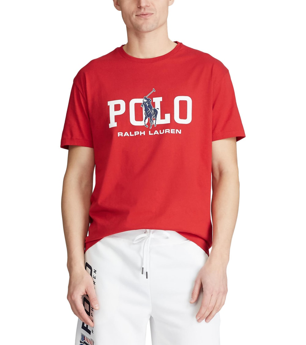 Polo Ralph Lauren  Classic Fit Graphic T-Shirt  Red - 710795778004-RRD | Jimmy Jazz