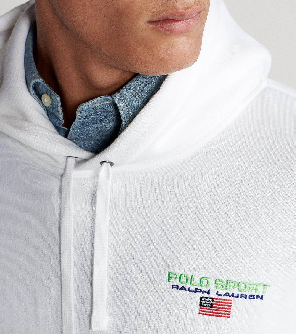 Polo Ralph Lauren  Polo Sport Icon Pullover Hoodie  White - 710800486002-WHT | Jimmy Jazz