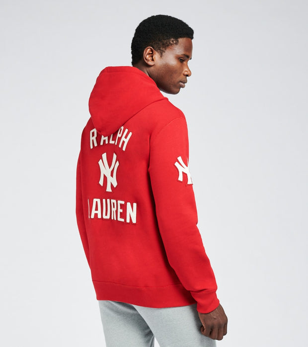 Polo Ralph Lauren  Yankees Hoodie  Red - 710810473001-RED | Jimmy Jazz