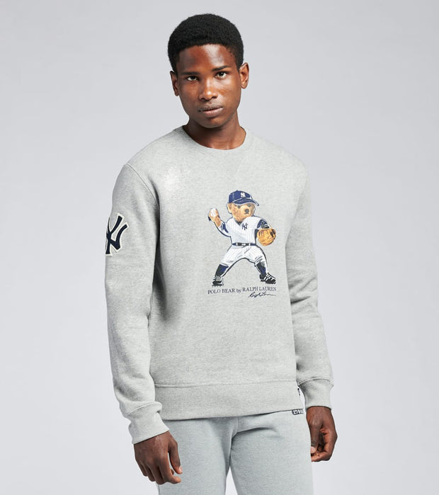 Polo Ralph Lauren  Yankees Bear Crewneck Sweatshirt  Grey - 710810487001-GRY | Jimmy Jazz