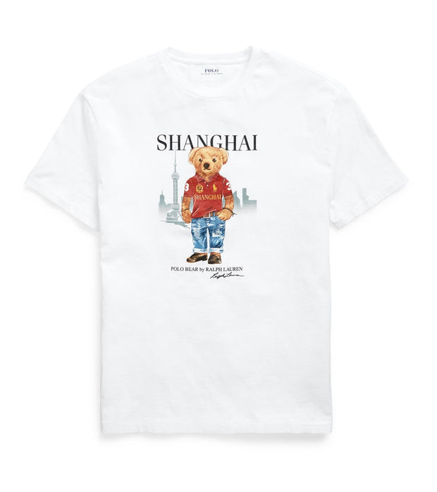 Polo Ralph Lauren  Shanghai Bear Tee  White - 710822581004 | Jimmy Jazz