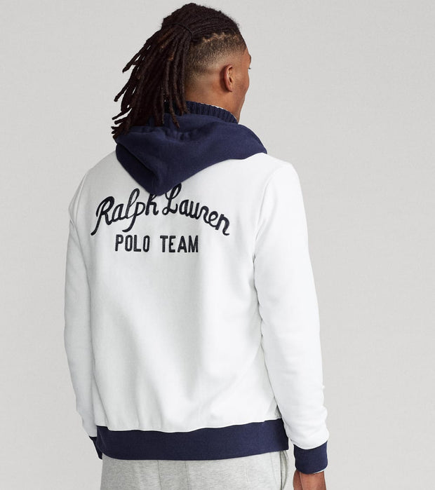 Polo Ralph Lauren  Magic Fleece Full Zip Hoodie  White - 710835949001-WHT | Jimmy Jazz
